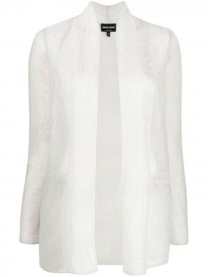 Легкая фактурная куртка Giorgio Armani. Цвет: серый