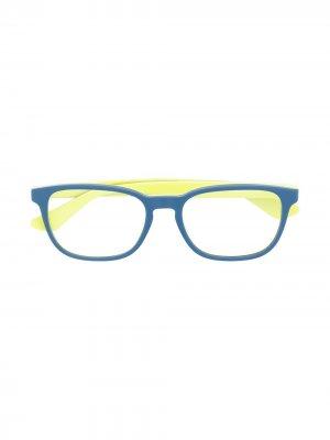 Очки в квадратной оправе RAY-BAN JUNIOR. Цвет: синий