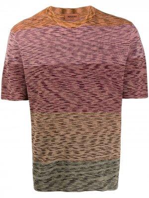 Трикотажная футболка с абстрактным узором Missoni. Цвет: коричневый