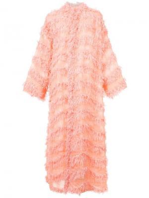 Длинное кимоно с бахромой Tsumori Chisato. Цвет: розовый