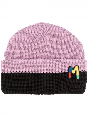 Шапка бини с вышитым логотипом M Missoni. Цвет: розовый