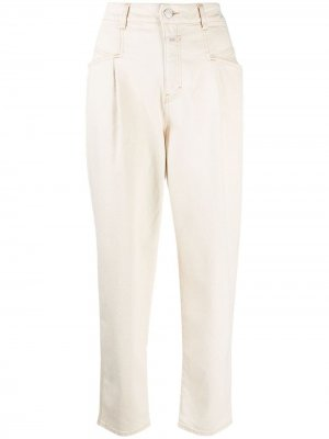 Зауженные брюки с завышенной талией Closed. Цвет: нейтральные цвета