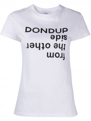 Футболка с логотипом Dondup. Цвет: белый