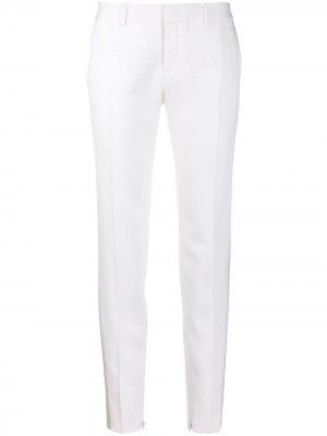 Зауженные брюки Saint Laurent. Цвет: белый