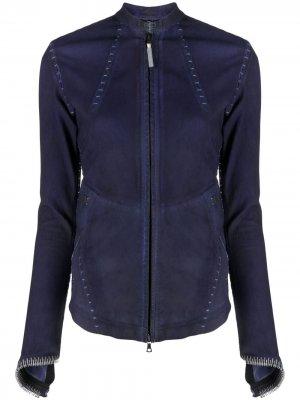 Куртка с декоративной строчкой Isaac Sellam Experience. Цвет: фиолетовый
