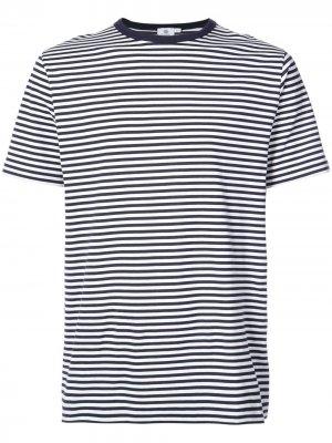Horizontal stripe T-shirt Sunspel. Цвет: черный