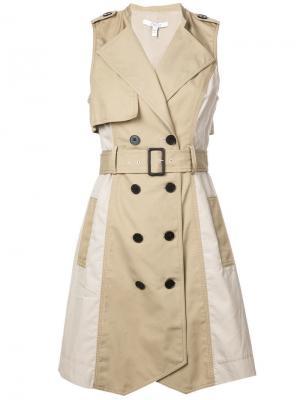 Двубортное платье Derek Lam 10 Crosby. Цвет: нейтральные цвета