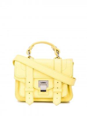 Маленькая сумка-сэтчел PS1 Proenza Schouler. Цвет: желтый