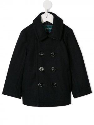 Классическое двубортное пальто Familiar. Цвет: синий