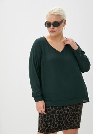 Блуза Zizzi. Цвет: зеленый