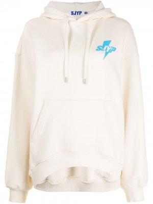 Худи оверсайз с логотипом SJYP. Цвет: нейтральные цвета