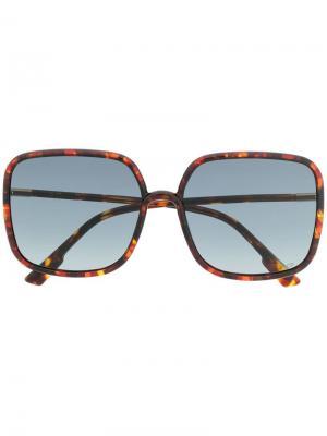 Солнцезащитные очки в квадратной оправе Stellaire 01 Dior Eyewear. Цвет: коричневый