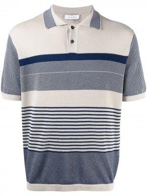 Рубашка поло в полоску Cruciani. Цвет: нейтральные цвета