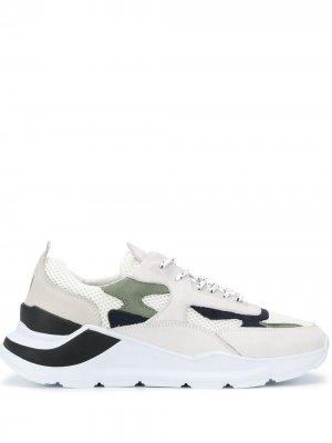 Кроссовки с контрастными вставками D.A.T.E.. Цвет: белый