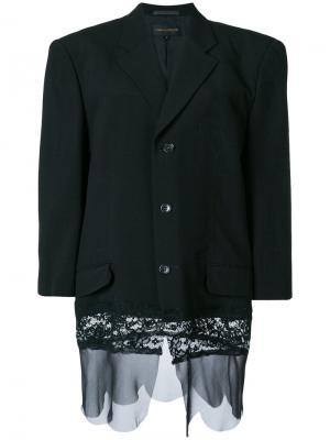Пиджак на пуговицах Comme Des Garçons Pre-Owned. Цвет: черный