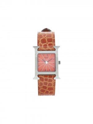 Наручные часы Heure H pre-owned 21 мм 2000-х годов Hermès. Цвет: оранжевый