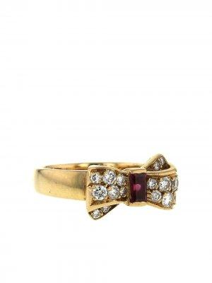 Кольцо 1980-х годов из желтого золота с рубинами и бриллиантами Van Cleef & Arpels. Цвет: золотистый,white,red