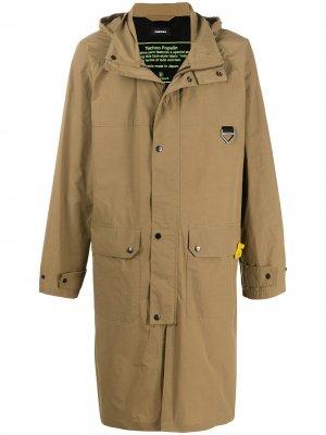 Пальто Techno Poplin Diesel. Цвет: нейтральные цвета