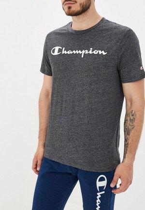 Футболка Champion. Цвет: серый