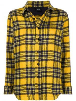 Checked shirt Aspesi. Цвет: желтый