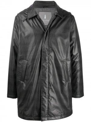 Пальто в клетку Rains. Цвет: серый