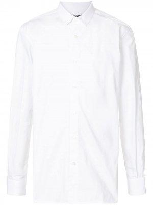 Рубашка с логотипом Balmain. Цвет: 0fa