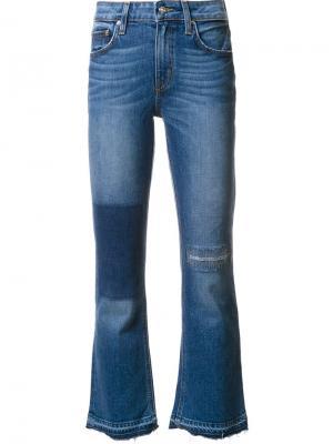 Укороченные джинсы Derek Lam 10 Crosby. Цвет: синий