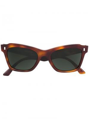 Солнцезащитные очки в оправе кошачий глаз Celine Eyewear. Цвет: коричневый