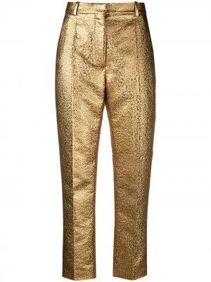 Укороченные брюки Valentino. Цвет: золотистый