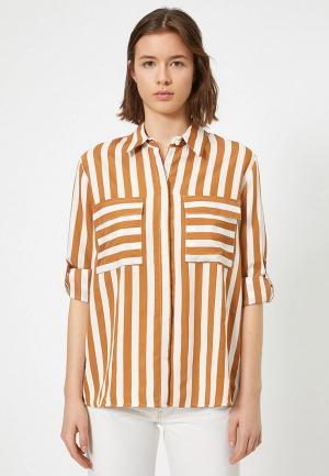 Блуза Koton. Цвет: коричневый