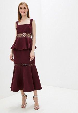 Платье True Decadence. Цвет: бордовый