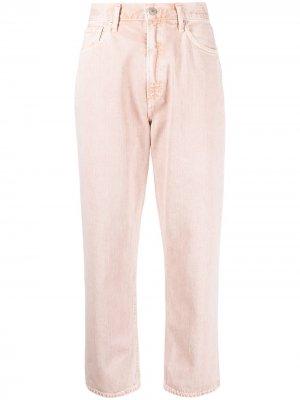 Прямые джинсы с завышенной талией Citizens of Humanity. Цвет: розовый