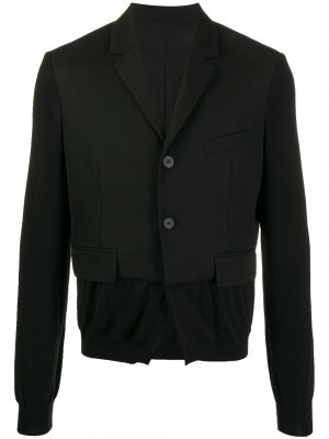 Пиджак с трикотажными рукавами Haider Ackermann. Цвет: черный