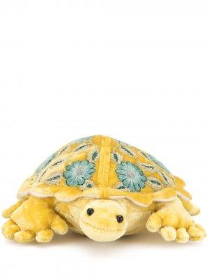 Мягкая игрушка в виде черепахи с вышивкой Anke Drechsel. Цвет: желтый