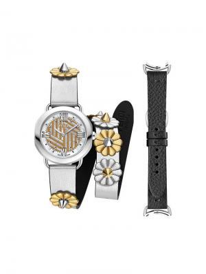 Часы Selleria со сменным ремешком Fendi. Цвет: черный