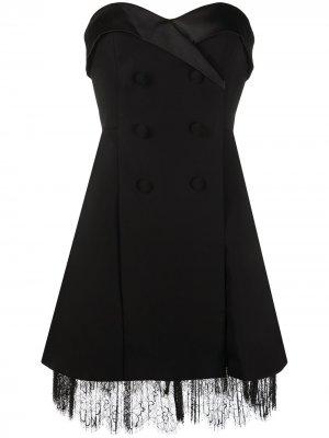 Коктейльное платье Self-Portrait. Цвет: черный