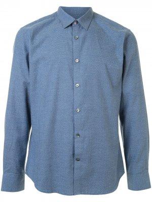 Рубашка с длинными рукавами и принтом Gieves & Hawkes. Цвет: синий