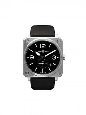 Часы BR S Steel 39 мм Bell & Ross. Цвет: черный b черный