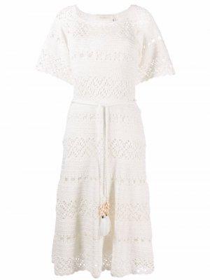 Платье Cassia в технике кроше Zimmermann. Цвет: белый