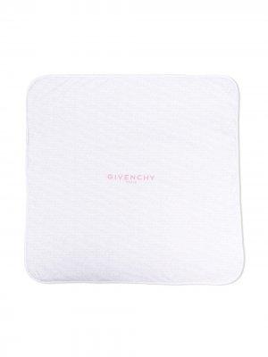 Одеяло с логотипом Givenchy Kids. Цвет: белый
