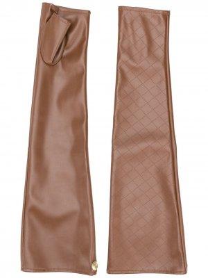 Перчатки-митенки с перфорацией Marlies Dekkers. Цвет: коричневый