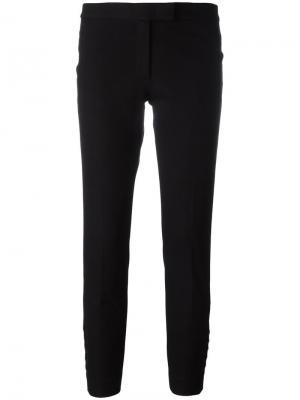 Укороченные строгие брюки Joseph. Цвет: черный