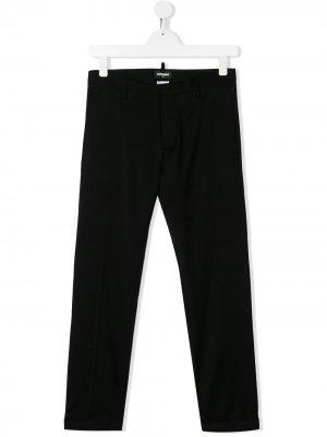 Прямые брюки Dsquared2 Kids. Цвет: черный