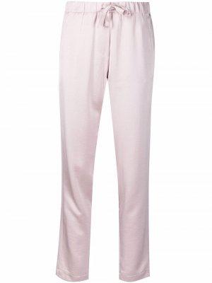 Атласные брюки Papiro прямого кроя Blanca Vita. Цвет: розовый