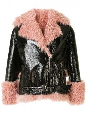 Куртка Bowery Moto Sandy Liang. Цвет: черный