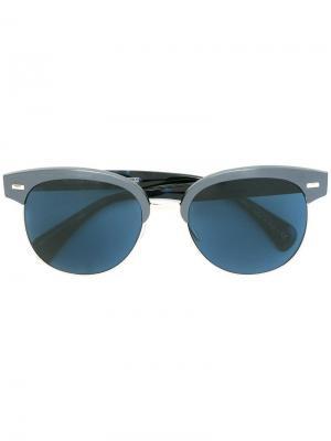Солнцезащитные очки Shaelie Oliver Peoples. Цвет: синий