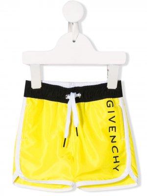 Плавки с кулиской Givenchy Kids. Цвет: желтый