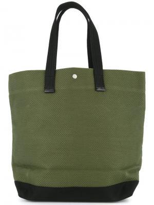 Большая сумка-шоппер Cabas. Цвет: зеленый