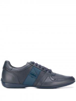 Кроссовки на шнуровке Baldinini. Цвет: синий