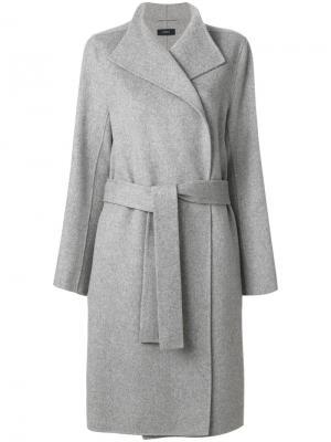 Двубортное пальто-халат Joseph. Цвет: серый